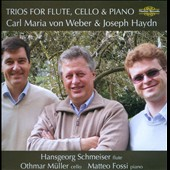 Weber and Haydn: Trios for Flute, Cello & Piano / Hansgeorg Schmeiser: flute; Othmar Müller: cello; Matteo Fossi: piano