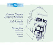 Beethoven: Piano Concerto No. 2; Brahms: Symphony No. 4 / Neeme Jarvi, Estonian Nat'l SO; Randalu Kalle, piano