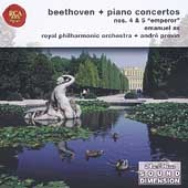 Beethoven: Piano Concertos no 4 & 5 / Ax, Previn, Royal PO