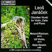 Janácek: Chamber Music for Violin, Cello & Piano / Pöntinen