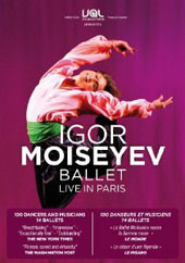The 70 Dancers of the Igor Moiseyev Ballet - live in Paris: Highlights from 14 Ballets [DVD]