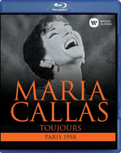 Maria Callas - Toujours, Paris 1958: Arias from Norma, Il Trovatore, Tosca, plus Act II of Tosca / Tito Gobbi, Albert Lance, Jean Paul Hurteau, Jacques Mars. Georges Sébastian, Paris Opera [Blu-ray]