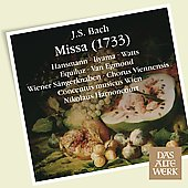 J.S. Bach: Missa (1733) / Hansmann, Iiyama, Watts, Equiluz, Van Egmond