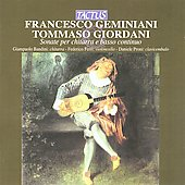 Geminiani, Giordani: Sonatas For Guitar & Accompaniment