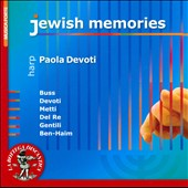 Jewish Memories - works by Buss, Devoti, Metti, Del Re, Gentili, Ben-Haim / Paola Devoti, harp