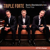 Ravel, Shostakovich, Ives: Piano Trios / Jasper Wood, violin; Yegor Dyachkov, cello; David Jalbert, piano