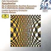 Mendelssohn: Symphonies 3 & 4 / Abbado, London SO