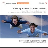 Free Fall - works for cello & piano by Mendelssohn, Shostakovich, Gerassimez, Say / Wassily & Nicolai Gerassimez