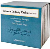 Johann Ludwig Krebs (1713-1780): Complete Works for Organ, Vol. 1-11 / Felix Friedrich, organ [12 CDs]