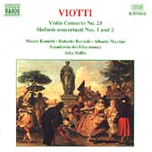 Viotti: Violin Concerto no 23, etc / Ranieri, Baraldi, et al