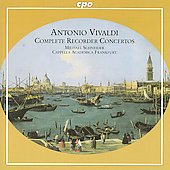 Vivaldi: Complete Recorder Concertos / Schneider, Cappella Academica