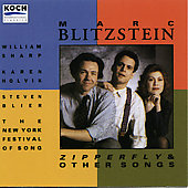 Blitzstein: Zipperfly & Other Songs / Sharp, Holvik, Blier
