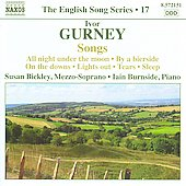 The English Song Series 19 - Gurney: All night under the moon, etc / Susan Bickley, Iain Burnside