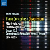 Bruno Maderna: Piano Concertos; Quadrivium / Aldo Orvieto & Fausto Bongelli, pianos