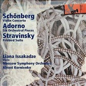 Schonberg: Violin Concerto; Adorno: Six Orchestral Pieces: Stravinsky: Firebird Suite / Liana Issakadze, violin
