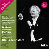 Brahms: Symphony No. 1; Martinu: Symphony No. 4 / Klaus Tennstedt