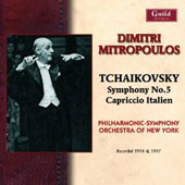Tchaikovsky Symphony 5; Capriccio Italien / Philharmonic SO of New York, Mitropoulos