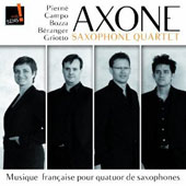 French Music for 4 Saxophones - works by Pierné, Campo, Bozza, Béranger, Grotto / Axone Saxophone Quartet
