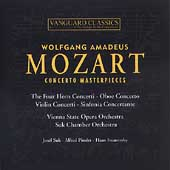 Mozart: Concerto Masterpieces / Suk, Pinder, Swarowsky