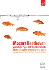 Mozart, Beethoven: Quintets for Piano and Winds / Levine, Ensemble Wien-Berlin [DVD]
