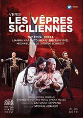 Verdi: Les Vepres Siciliennes, opera / Lianna Haroutounian, Bryan Hymel, Michael Volle, Erwin Schrott; Chorus & Orchestra of the Royal Opera House; Pappano [Blu-ray]