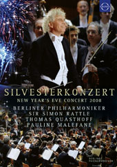 Silvesterkonzert Gala from Berlin, New Year's Eve Concert 2008; Works by Adams, Barber, Copland, Gershwin, Kern, Sousa / Thomas Quasthoff, baritone; Pauline Malefane, soprano; Sir Simon Rattle, Berlin Philharmonic Orchestra [DVD Video]