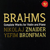 Brahms: Works for Violin & Piano / Znaider, Bronfman