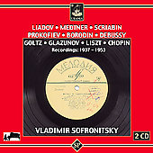 Medtner, Glazunov, Scriabn, etc: Piano Works/ Sofronitsky
