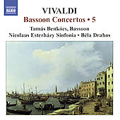 Vivaldi: Bassoon Concertos Vol 5 / Benk&oacute;cs, Drahos, et al