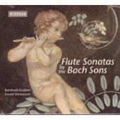 Flute Sonatas by the Bach Sons / Barthold Kuijken, Ewald Demeyere