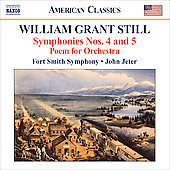 William Grant Still: Symphonies no 4 & 5, etc / John Jeter, et al