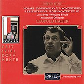 Festspieldokumente - Mozart / Leopold Hager, Popp, Schulz