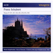 Schubert: Masses / Bruno Weil, Orchestra of the Age of Enlightenment [4 CDs]