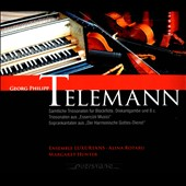 Telemann: Trio Sonatas for Recorder / Ensemble Luxurians; Margaret Hunter, soprano