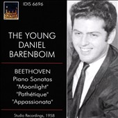 The Young Daniel Barenboim - Beethoven: Sonatas 'Moonlight', 'Pathetique' & 'Appassionata (Rec. 1958)