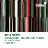 Georg Kreisler (1922-2011): Complete Piano Works; Five Songs for Barbara / Sherri Jones, piano