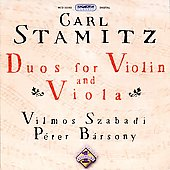 Stamitz: Duos for Violin and Viola / Szabady, Barsony