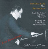 Beethoven: Piano Sonatas nos 17 & 29 / Mindu Katz