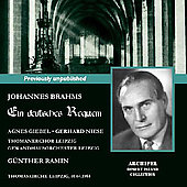 Brahms: Ein deutsches Requiem / Ramin, Giebel, Niese, et al