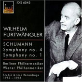 Schumann: Symphony no 4 / Furtw&auml;ngler, Berlin PO, et al