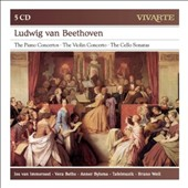 Beethoven: The Piano Concertos; The Violin Concerto; The Cello Sonatas / Jos van Immerseel, piano. Vera Beths, violin. Anner Bylsma, cello. Bruno Weil, Tafelmusik [5 CDs]