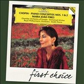 Chopin: Piano Concertos Nos 1 & 2 / Maria Joao Pires, Previn, RPO; Krivine, CO of Europe