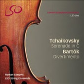 Tchaikovsky: Serenade in C; Bartók: Divertimento / LSO String Ensemble; Simovic