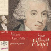 Ignaz Pleyel, Vol. 8: Paris Quartet 1 - String Quartets in C; B flat; String Quartet in f minor / Janacek Quartet