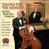 Frank Tate: Thanks For The Memory: Frank Tate's Musical Tribute To Bobby Short