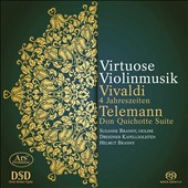 Virtuoso Violin Music - Vivaldi: The Four Seasons; Telemann: Don Quichotte Suite / Susanne Branny, violin; Dresdner Kapellsolisten, Helmut Branny