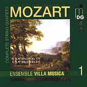 Mozart: Complete String Quintets Vol 1 / Villa Musica