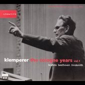 The Cologne Years Vol 1 / Otto Klemperer