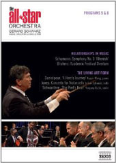 All Star Orchestra V & VI: 'Relationships in Music' Schumann: Symphony no 3; Brahms: Academic Festival Ov.; 'The Living Art Form' - Danielpour; Jones; Schwantner / Xiayin Wang; Schwarz [DVD]