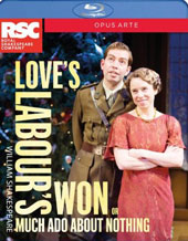 William Shakespeare: Love's Labour's Won or Much Ado About Nothing (Recorded live at the Royal Shakespeare Theatre, Stratford-upon-Avon, March 2015) [Blu-ray]